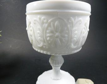 milk glass pedestal vase , I have 2