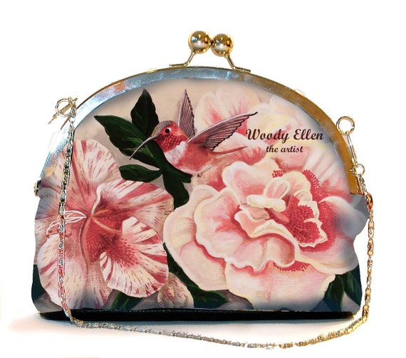 Retro clip purse,clutch bag,Honeybird,birthday gift,gifts for her,gifts for mom,Woody Ellen handbag,christmas gifts,christmas gift ideas