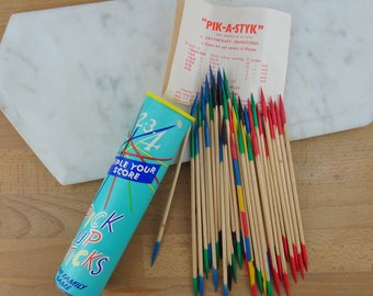 Vintage Pick Up Sticks Game, Pik-a-Styk,  Wooden Sticks, Old School Games, Family Game
