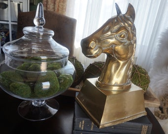 Vintage, Large Brass Horse Head