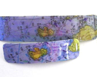 Squirrel Island French Barrette - Mother Daughter gift - Mainemade - with Resin Coat -Boothbay Harbor