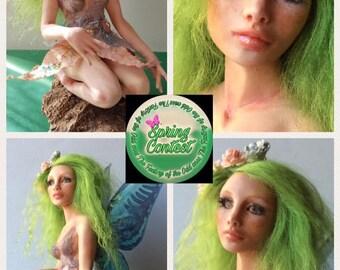 Altea ooak fantasy art doll by A.C fairy mermaid