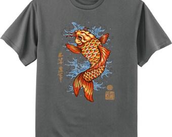 Japanese Koi fish decal t-shirt men's tee