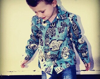 Skate Or Die!!! Chillax ! Boys Long Sleeve Shirt. Size 5