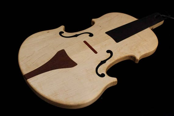 Custom Violin Shaped Cutting Board