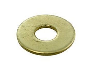 """Brass Wash 11/16"""" Dia with 1/4"""" Hole (17ga) (Pkg of 12) (MSBR15417)**CLOSEOUT**"""