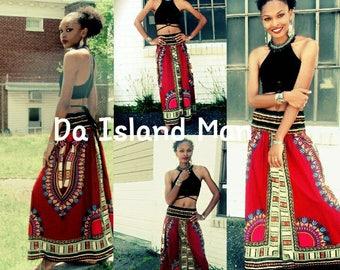 Elastic Traditional Print Skirt