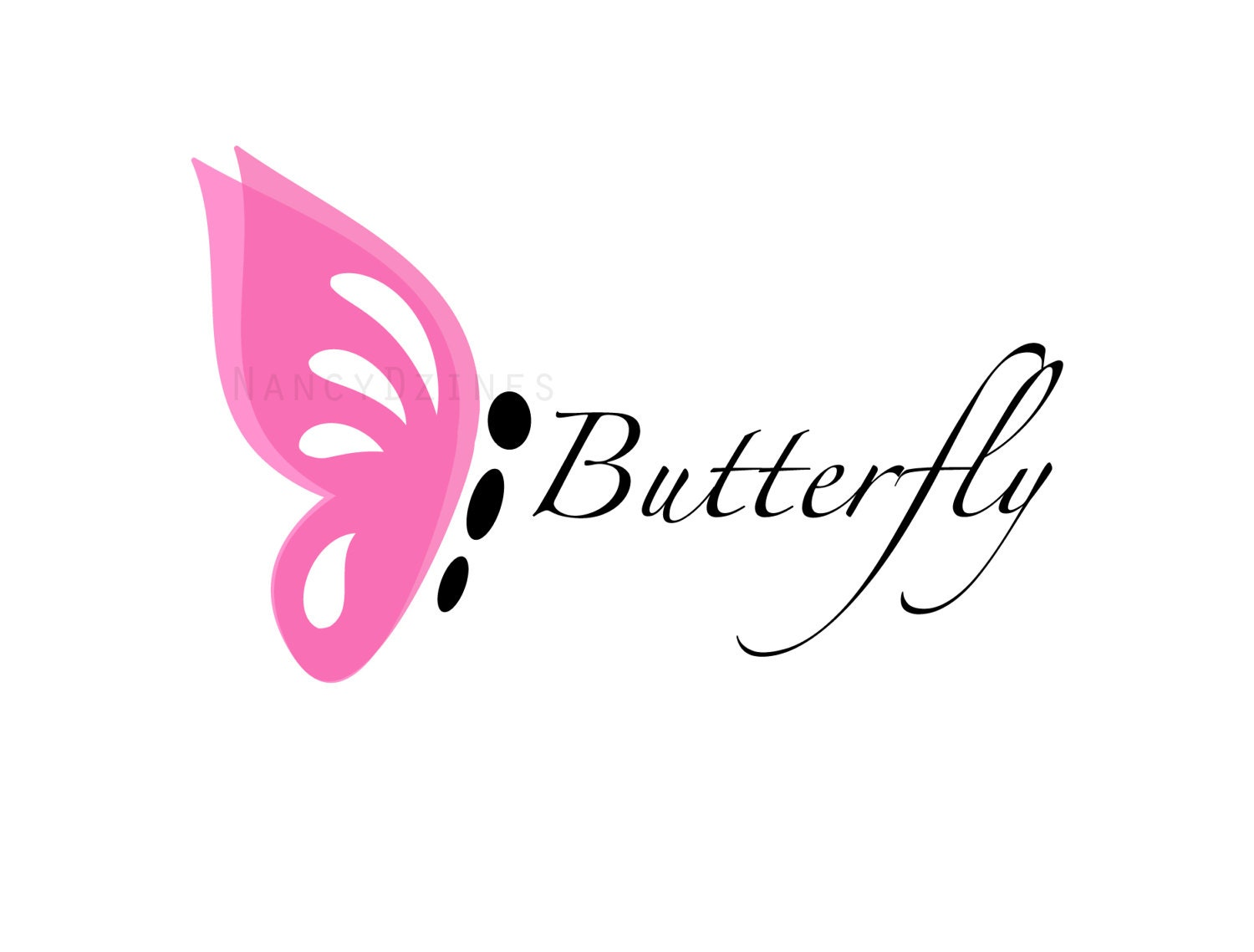 Butterfly logo Boutique logo Baby boutique logo