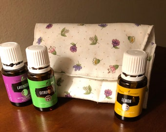 Trendy Essential Oil Pouch /oil pouch /oil bag /essential oils storage for purse