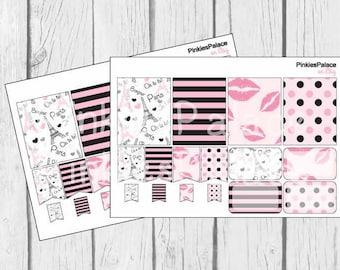 Planner Stickers 16 Paris Stickers Planner Stickers Horizontal Vertical eclp PS54 Fits Erin Condren Planners