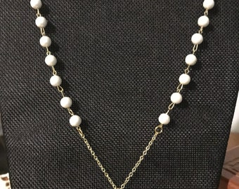 Pearl Pendant Gold Chain Necklace
