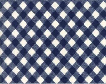Bonnie and Camille Fabric - Bonnie Camille Basic Vintage Picnic Gingham Dark Blue - 55124 37 - 8.99 A Yard