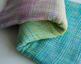 Catherine with hand dyed weft
