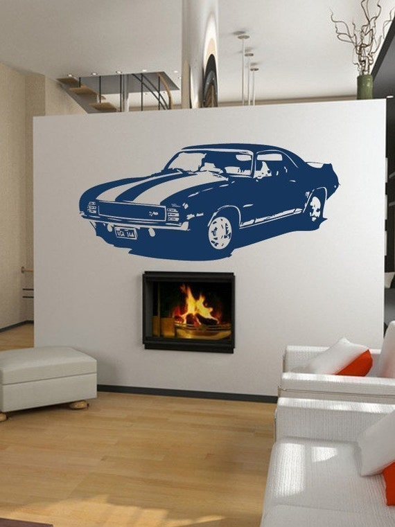 Old School Classic 1969 Camaro Z/28 Muscle Car Vinyl Wall art
