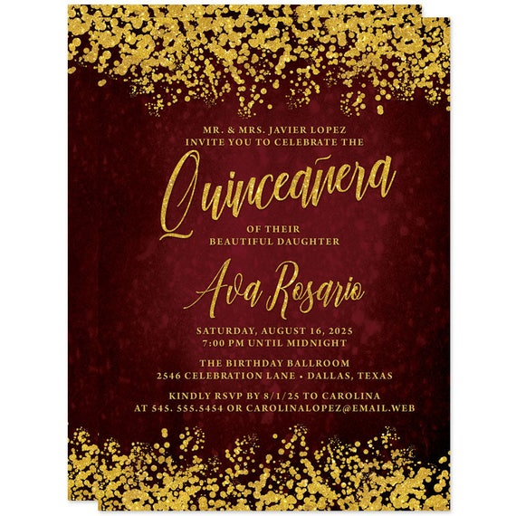 quineanera invitations
