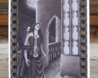 "Bloody Ballade, Mandragora Scream, Art Card, postcard, high quality art print DIN A6 (10,5 cm x 14,8 cm / 4.13"" x 5.83"")"