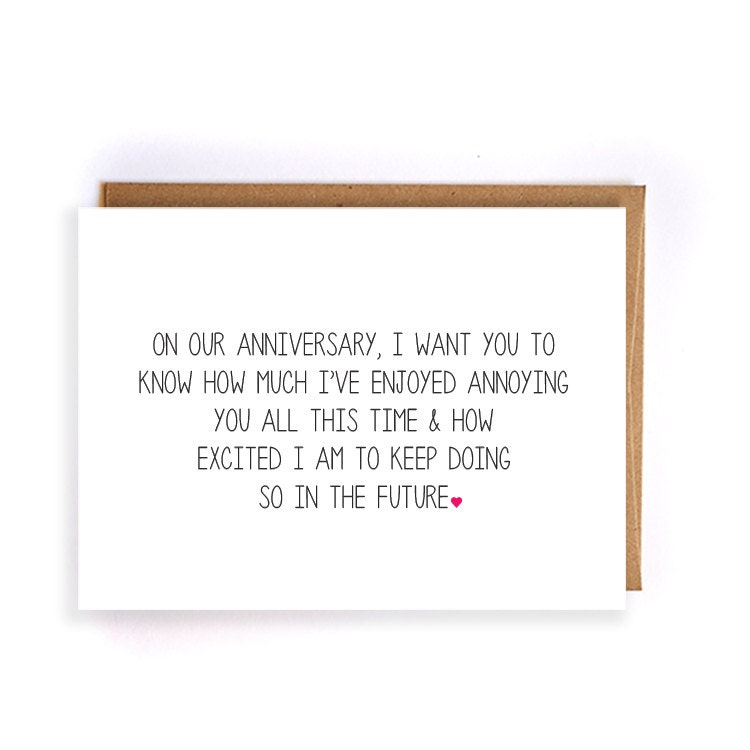 10th Wedding Anniversary Quotes For Husband: Funny Anniversary Card For Him Paper Anniversary Cards For