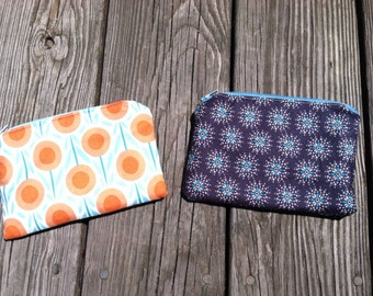 Zippered Pouch// Assorted patterns available