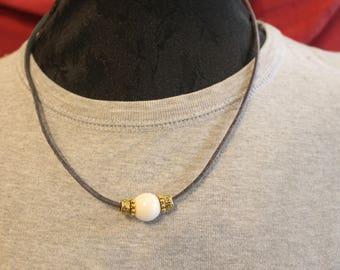 Gift hostess - crew neck tie dark grey Pearl