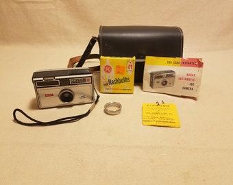 Vintage Kodak Instamatic 100 Camera with Case