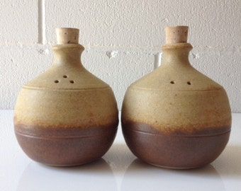 Rudolf Dybka Salt & Pepper Australian Studio Pottery Javeen-Bah Pottery for Naural Decor