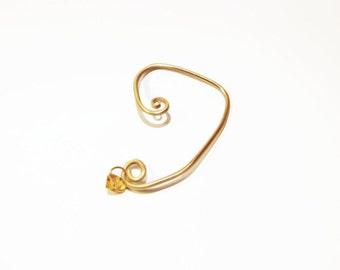Elvish Gold Earrings, ear wrap earrings, elf earrings, ear wrap earring, cuff earrings, gold cuff earrings, elvish ear cuff, for her