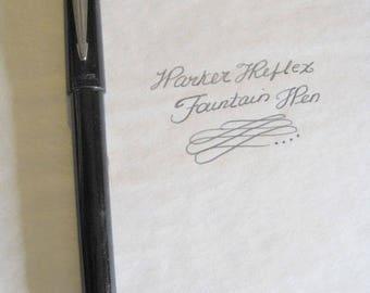 Parker Reflex Fountain Pen - Black - Working