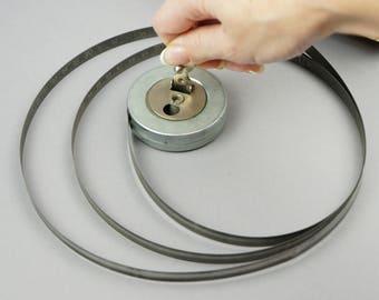 Measuring tape, Roulette ussr, vintage instruments, tools for decoration, metal measuring tape