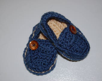 Baby Boy Crochet Loafers