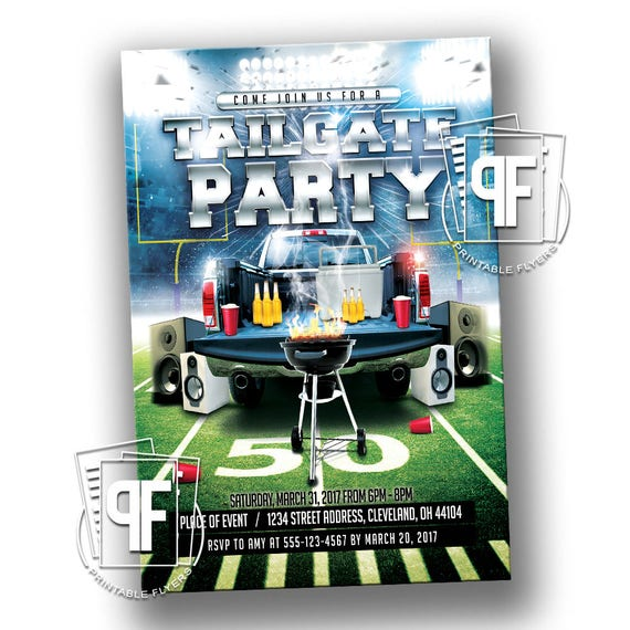 Tailgate Birthday Invitation