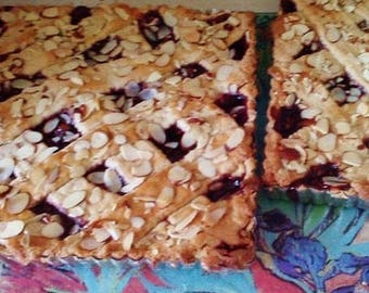 SUGAR-FREE Linzer Torte *Bars* | Raspberry or Apricot