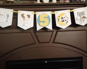 Hey Diddle Diddle Birthday Party Mini Banner