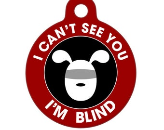 Blind Medical ID Tag - Dog Medical Alert Pet Tag, Dog Tag, Child ID Tag