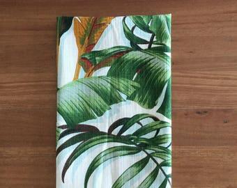 Tea Towels Tropical Tea Towel Tropical Decor Palm Leaf Coastal decor. Hawaiian Style. Beach House Decor. Retro Tropical