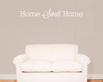 """Home Sweet Home Wall Decal / Wall Quote Sticker (40"""" x 6.26"""")"""