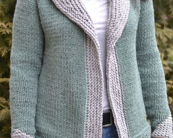 Knitted Cardigan - Girls Vest, Spring  Autumn Cardigan, Cozy Knits, Knit sweater, Layers, Gift for her