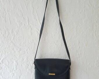ORIGINAL OROTON CROSSBODY bAG• Vintage shoulder bag• Black leather bag • Leather Crossbody bag • Oroton purse • Genuine • Designer bag