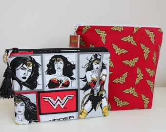 Wonder Woman Makeup Bag Cosmetic Bag Jewelry Pouch Pencil Case