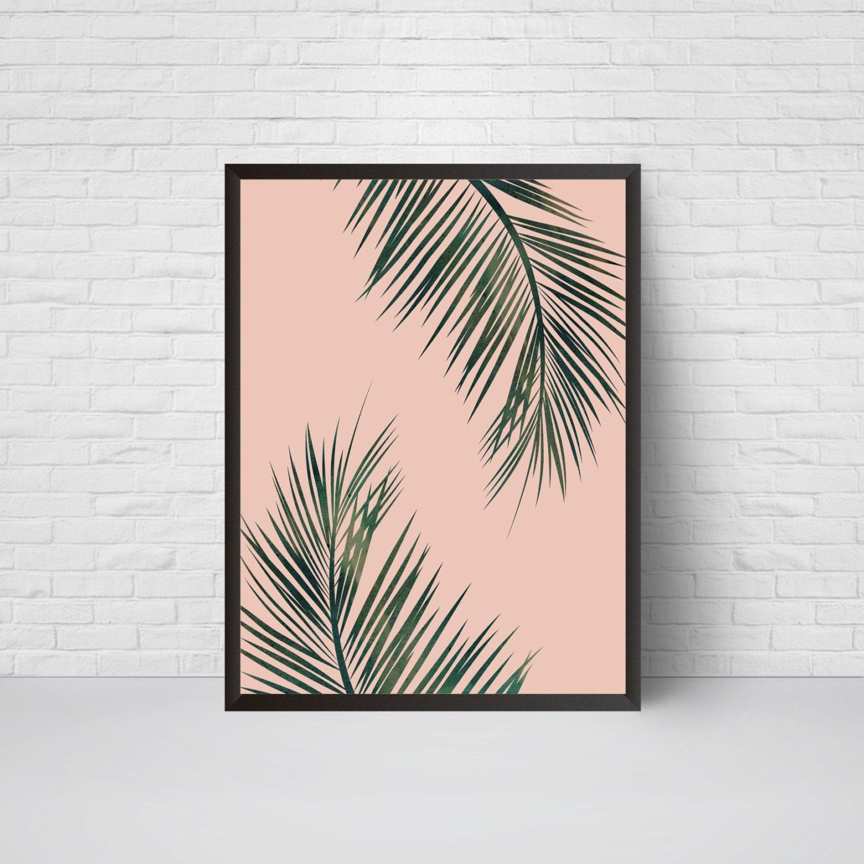 Large Leaf Wall Decor Awesome Palm Leaves Wall Art Print Beach House Leaf Decor Printable 2018