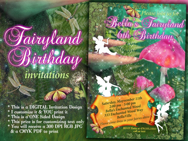 Fairy Invitation Fairy Party Invitation Birthday Party