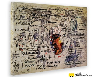 Modern paintings-Jean Michel BASQUIAT-plate Three-Yellow BUS