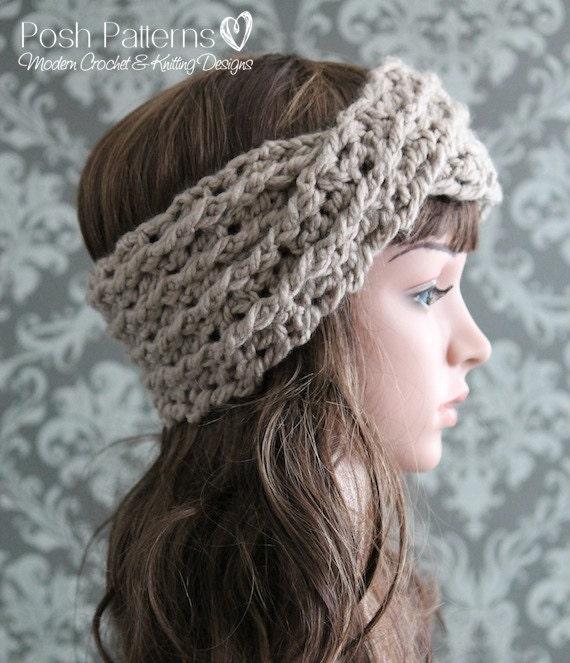 Crochet Pattern Crochet Headband Pattern Turban Headband Crochet Pattern Crochet Ear Warmer Pattern Baby To Adult Sizes Pdf 427