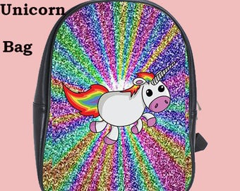 Unicorn School bag, tv , school, glitter, cult, Unicorn , university, fashion, backpack, teens, school
