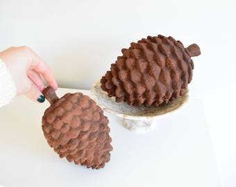 Pine Cones-Large Pine Cones-Large Faux Pine Cone-Pine Cone Bowl Filler-Rustic Home Accents-Rustic Nursery -Pine Cone Decor - Resin Pine Cone