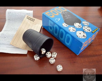 Vintage Dice Game 5000 by PAPITA, c.1970s. Original Box - AU - Complete Game - TG001