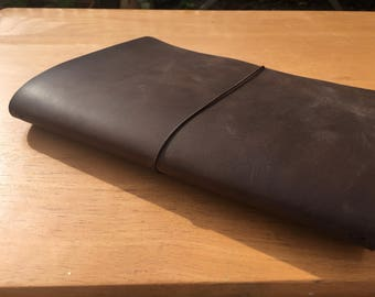 A5 Traveler's Notebook / Fauxdori Suitable for Journal, Notebook or Bulletjournal - Genuine Full Grain Leather