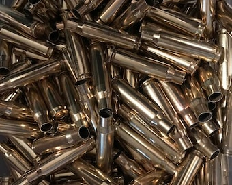 308 Brass casings 100 Once fired 7.62x51 cases