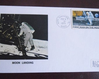 Moon Landing - Cape Canaveral 1971 - Astronaute Letter Cover