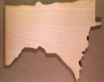 Minnesota Sign MN Wooden Cutouts - Large Sizes - Shapes for Projects or Other Use