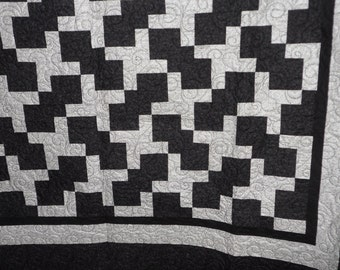 Silver Puzzle Queen Quilt